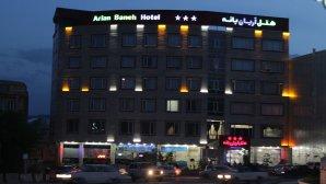 نمای بیرونی هتل آریان درشب