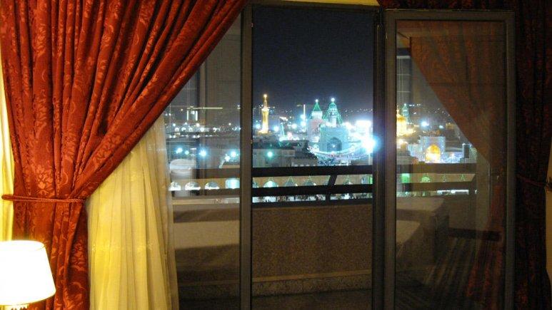 هتل آپارتمان امید مشهد فضای داخلی آپارتمان رو به حرم 1