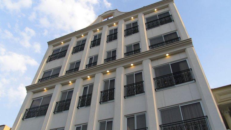 نمای بیرونی هتل آپارتمان مدیا