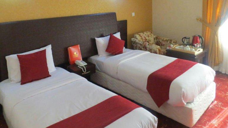 هتل پارس اهواز اتاق دو تخته تویین