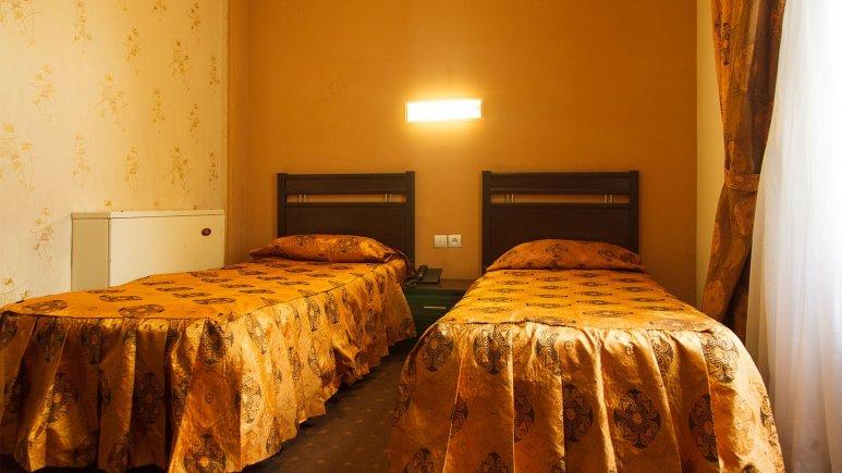 نمایی از اتاق دو تخته تویین  هتل پارسا