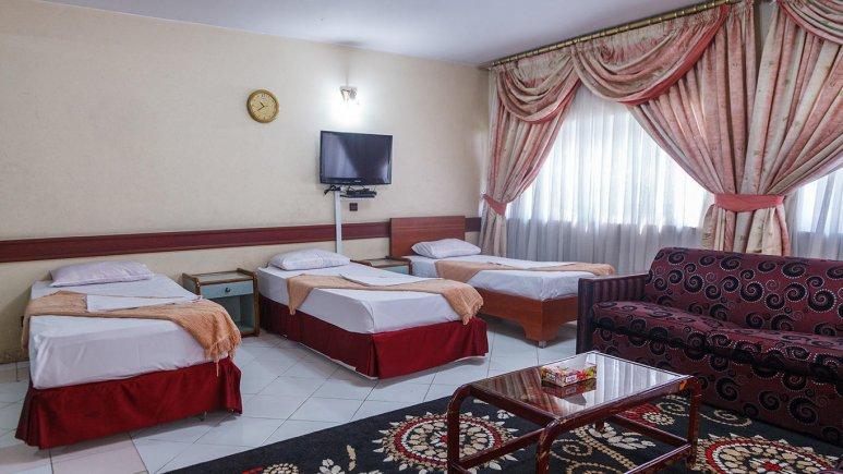 هتل آپارتمان فیروزه توس مشهد سوئیت سه تخته فولبرد