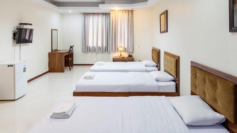 هتل آپارتمان جاده ابریشم تهران اتاق سه تخته