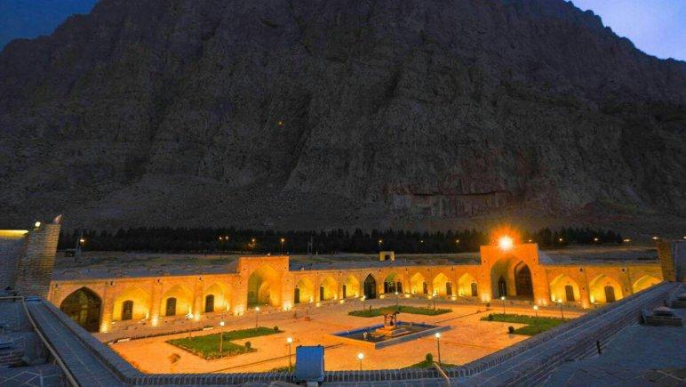 نمای بیرونی هتل لاله بیستون کرمانشاه