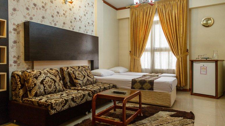 هتل آپارتمان کنعان مشهد آپارتمان یک خوابه دو تخته تویین
