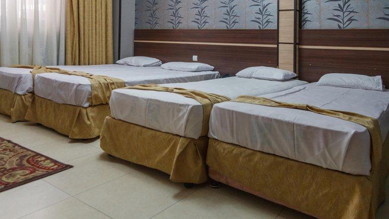 هتل آپارتمان ابریشم مشهد اتاق چهار تخته