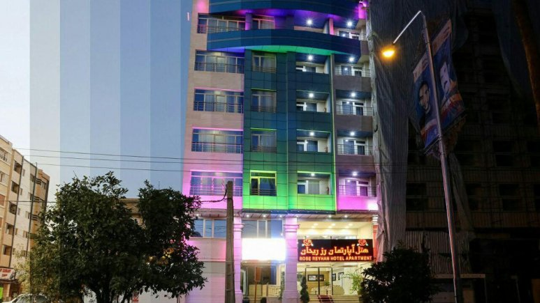 نمای بیرون هتل رز ریحان شیراز